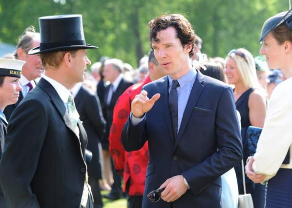 Benedict attending a Garden Party Queen Elizabeth is hosting at Buckingham Palace on June 6, 2013 in London