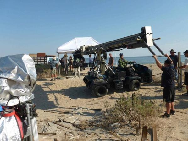 Simon & Robin au tournage du premier épisode de la saison 6 (26/07/2013)