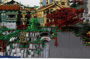 Le Seigneur des Anneaux : la cité des elfes en 200 000 Lego