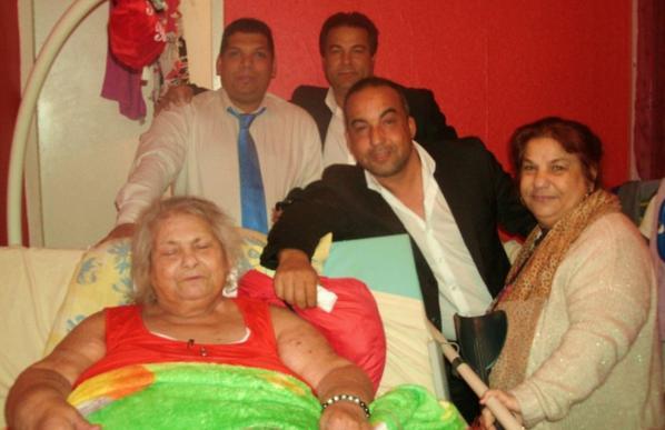mon père, ses cousin, sa tante et sa mère JOUR DE L'AN 2014
