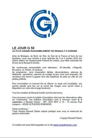 50 ans de la R ENAULT 8 GORDINI à LOHEAC
