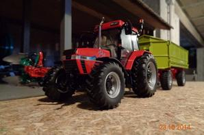 Moisson du maïs chez le voisin Bernard avec le CaseIH Maxxum 5150 PRO et la benne welger 14T