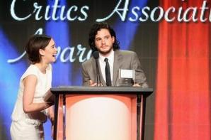 Emilia at the 29th Annual Television Critics Association Awards with Kit Harigton