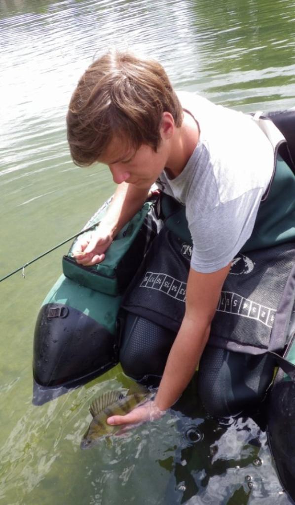Stage de pêche en float tube pour jeune
