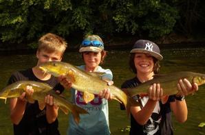 Session de pêchepour jeune au lac du Der