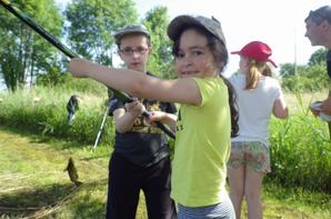 Animation pêche pour un groupe de scolaire