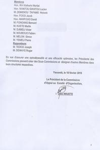 Comité national d'organisation des obsèques de l'Honorable Françoise FONING