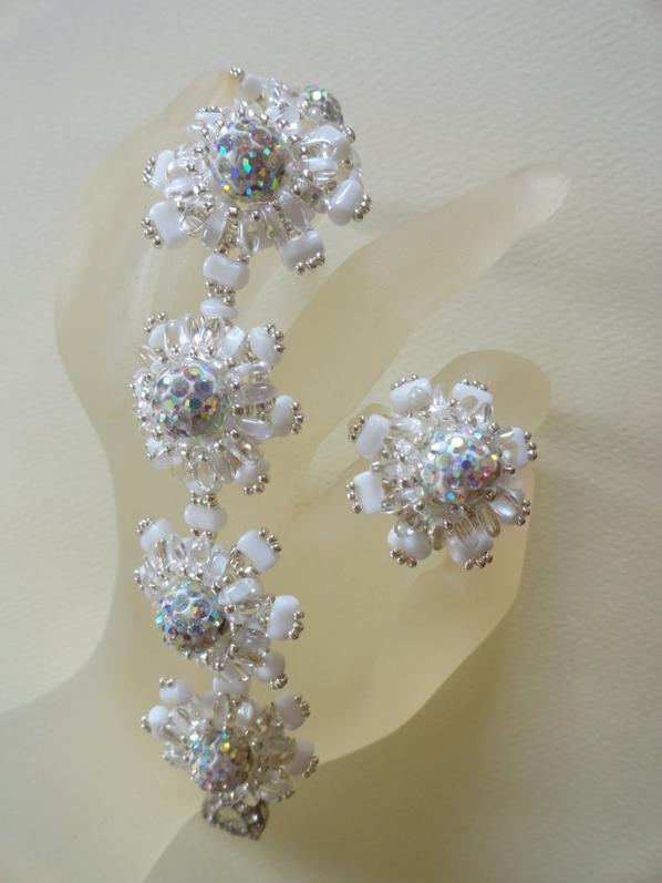Une autre manière de travailler les perles shamballas !!!