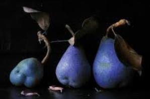 Une parure poire bleue !!!