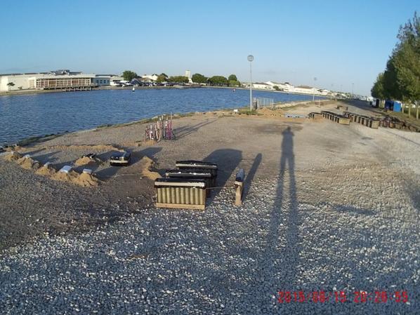 installation feu de l'aiguillon sur mer 15 aout 2015