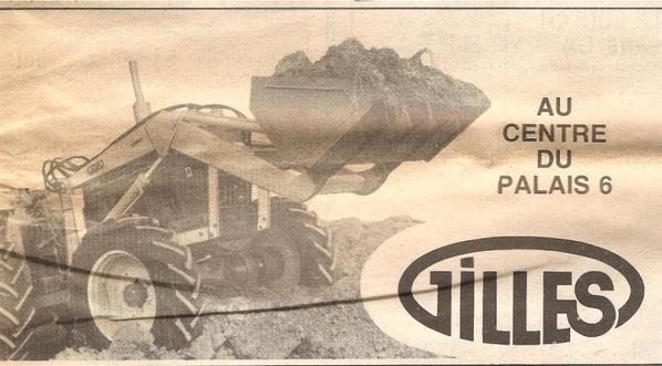 Pub Gilles , Sillon Belge 2 Fevrier 1974 , ( pour faire plaisir à mes amis )