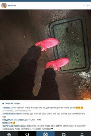 Zendaya a mis deux photos sur Instagram