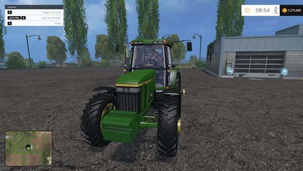nouveau tracteur que j ai c est un john deere 7810 version américaine