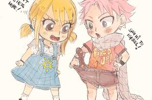 Lucy natsu gajeel et levy enfant