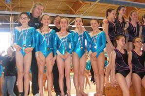 5 podiums au finistere et 2 podiums de zone ouest pour La Quimpéroise gymnastique !!