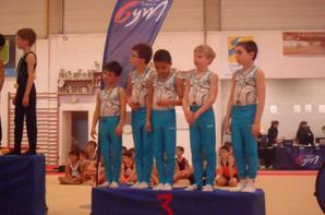 3 Equipes de La Quimpéroise gymnastique artistique sur le podium breton performance