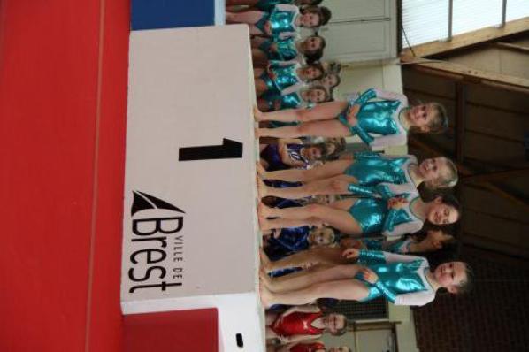 L'équipe des 7-8 ans de La Quimpéroise gym championne du finistére