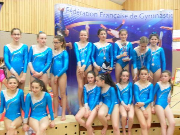 2 équipes de La Quimpéroise gymnastique qualifiées au championnat de france