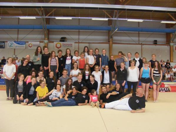 400 enfants à l'évaluation interne de La Quimpéroise gymnastique