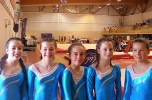 Les garçons de La Quimpéroise gymnastique 3eme du regroupement ouest à Mer
