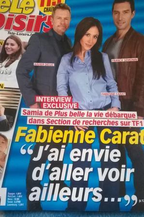 Interview de Fabienne Carat Télé Loisirs du 28/02 au 6 /03/2015