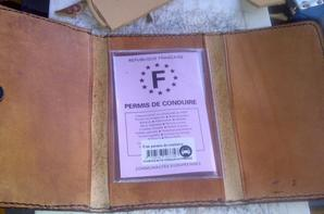 Portefeuille cuir 2,5 ep possible autre dessin !
