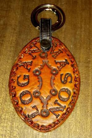 Porte clé motif coq, pour coqbollen !