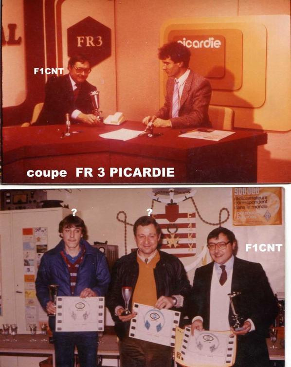 COUPE FR 3 PICARDIE  1983 F8GFA avec 30ans de moins