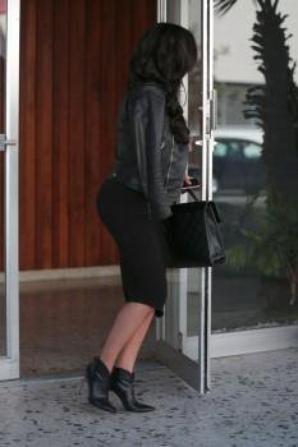 Naya hier à la sortie d'un building à Hollywood :)