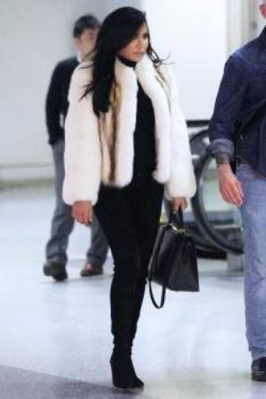 Naya hier à l'aéroport du New Jersey :)