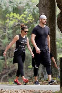 Lea et Matthew en mode sport à la Nouvelle Orléans lundi :)