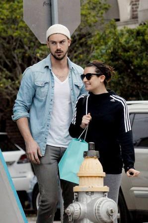 Lea et Matthew à la sortie d'un SPA lundi :)