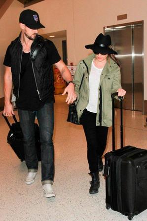 Lea et Matthew hier à LAX :)