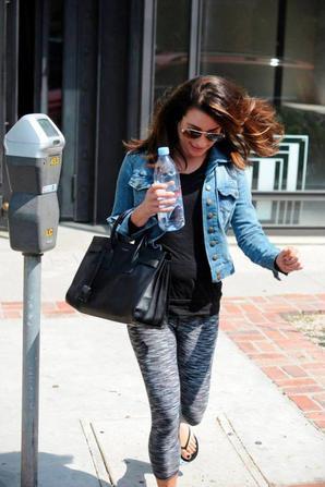 Lea hier à la sortie d'un salon de beauté de Melrose :)