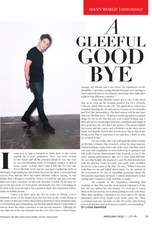 Photoshoot pour Cliche Magazine numéro de Avril Mai 2015 :)