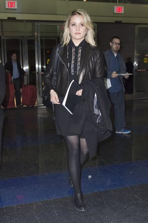 Dianna à l'aéroport JFK lundi :)