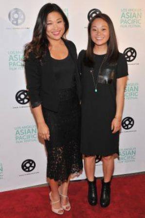 Jenna hier au Asian Pacific Film Festival de LA pour la première de Twinsters :)
