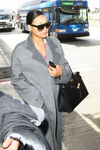 Naya débarquant à LAX hier :)