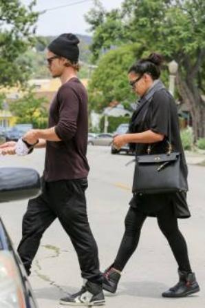 Naya avec Ryan hier dans le quartier de Los Feliz (17/05/15)
