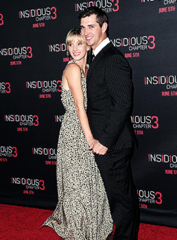 Heather et son mari à la première de Insidious Chapter 3 :)
