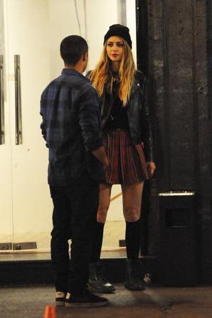 Melissa sur le tournage de Low Riders :)