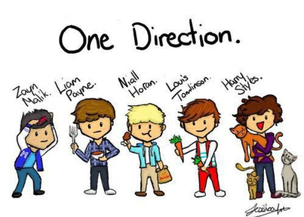les one direction en  dessin