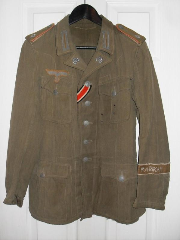 Nouvelle acquisition : DAK ( Deutsches Afrikakorps ) PANZER Tunic.