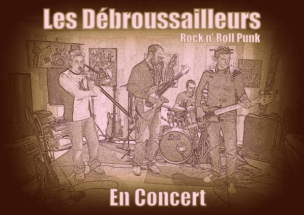 le groupe Les Débroussailleurs  dans le réservoir du gisc et à la scène ouverte du Samedi 2 Mai à Caunes-Minervois