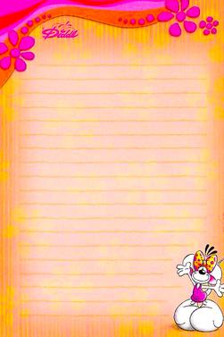 Feuilles Diddl - Papier à lettre Hors Série - 25 à 30