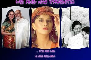 Madhuri DIXIT et ses parents