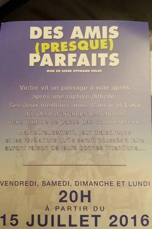 Je joue dans cette pièce sur Paris en ce moment