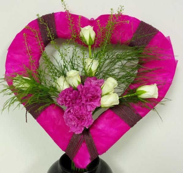 bouquet sur structure