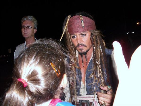 Johnny Depp avec ses Fans