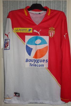 Maillot coupe de la ligue saison 2001-2002